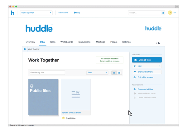 Collaboration and Project Management Software - Huddle
