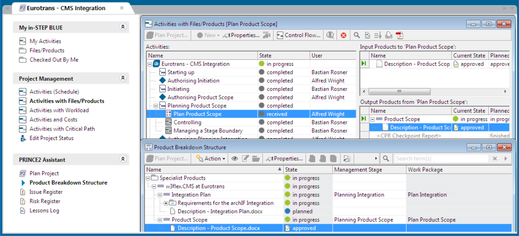Project Management Software - in-STEP Blue