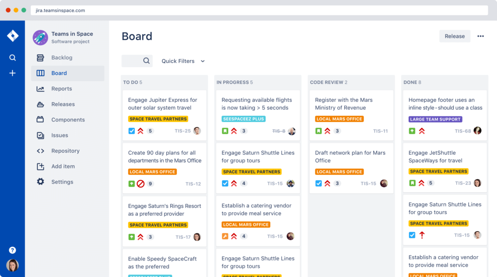 Project and issue tracking - Jira