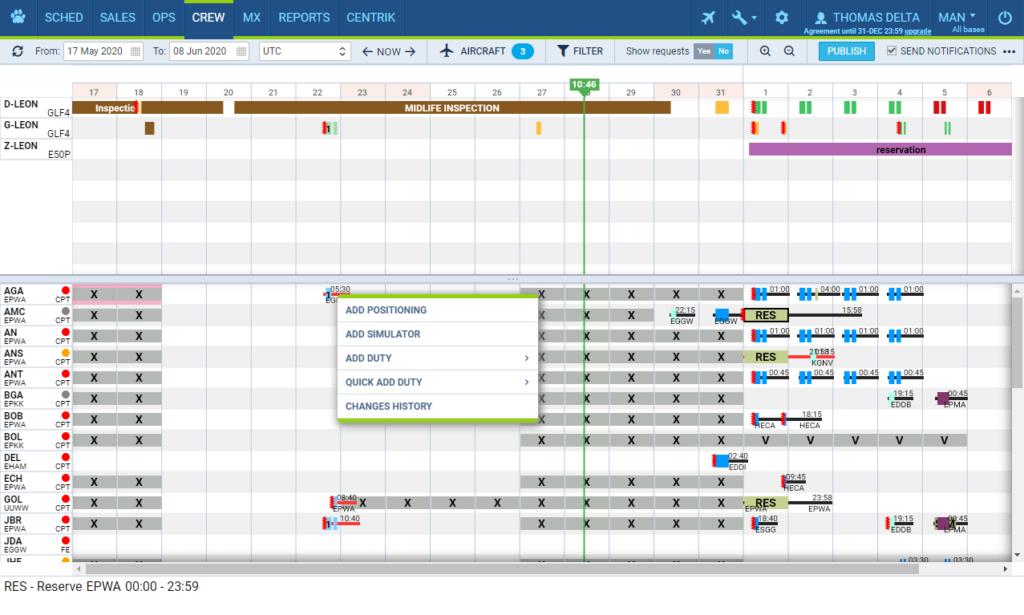 Crew management software - Leankor