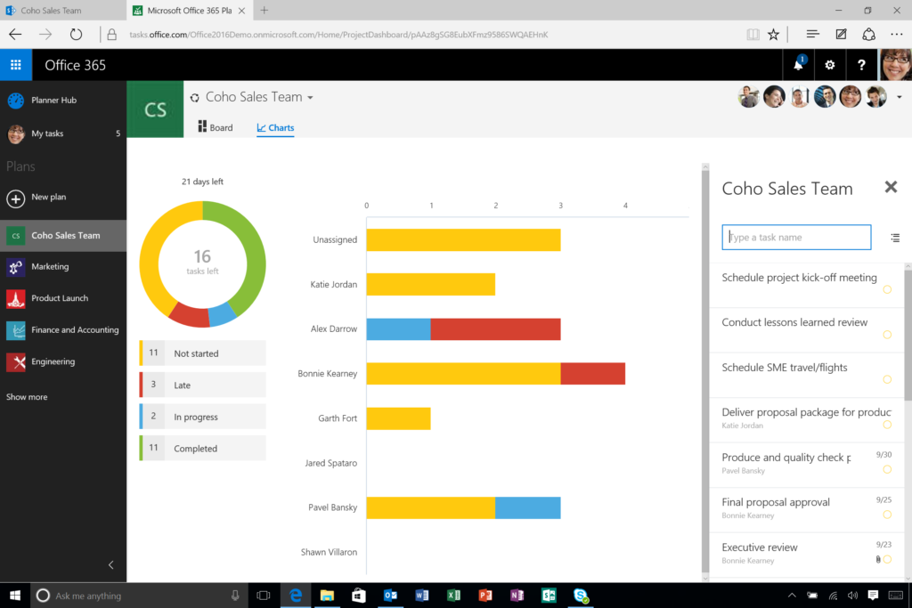 A lightweight project management application - Microsoft Planner