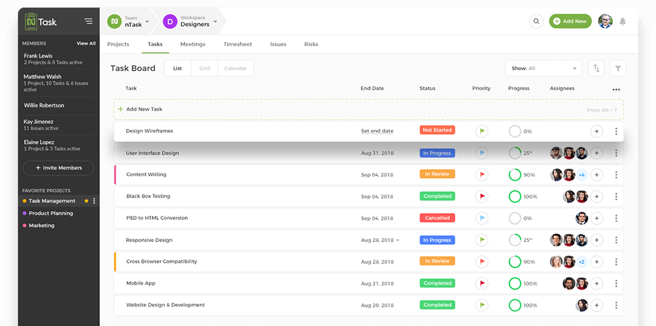Project Management Software for Teams - nTask