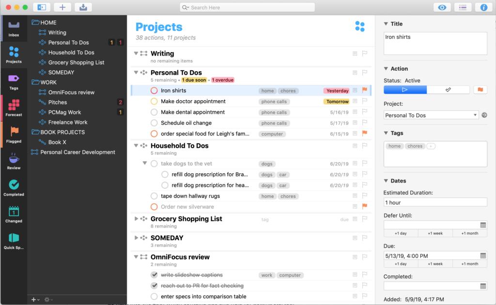 Project Management Software for Professionals - OmniFocus