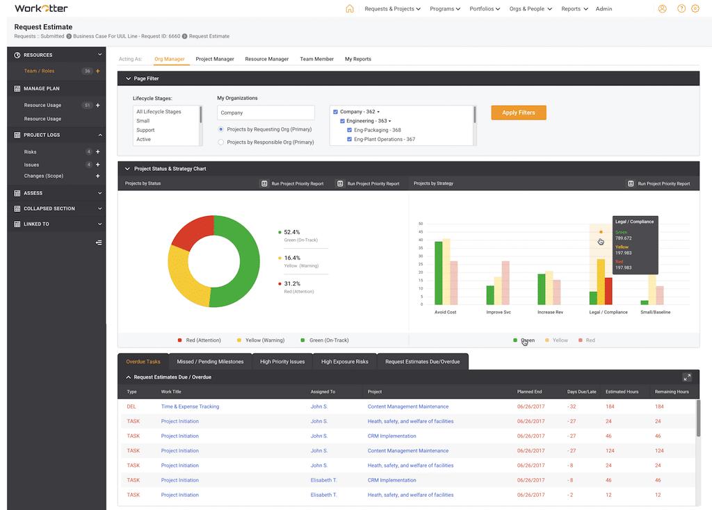 Online project portfolio management software - Workotter