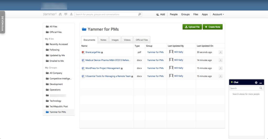 IT management for software - Yammer
